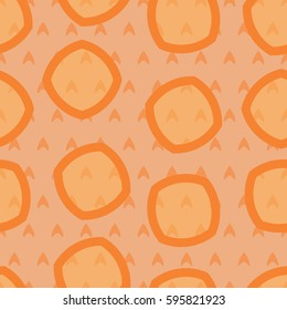 Seamless simple pattern in orange color. Pattern for wrapping. Pattern for fabric coloring.