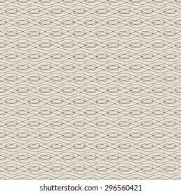 Seamless simple pattern. Waves, mesh, wicker.