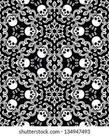 Seamless with skulls