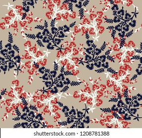 seamless small flowers pattern on background