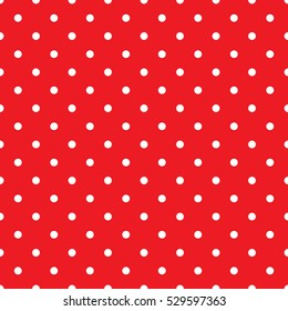 Seamless small red polka dot background