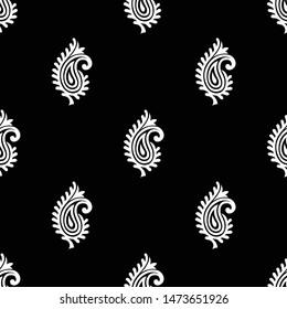 Seamless small vector paisley pattern