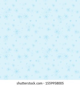 Seamless snowflake pattern. White snowflakes on a blue background. Christmas pattern. Winter pattern.For design and decoration of fabric, paper, Wallpaper and packaging.