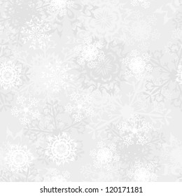 Seamless snowflake patterns. Fully editable EPS 8 vector illustration.