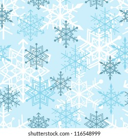Seamless snowflakes background pattern. winter theme. Vector ill