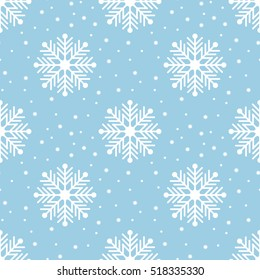 Seamless Snowflakes pattern Background for Christmas and New year. Vector Illustration