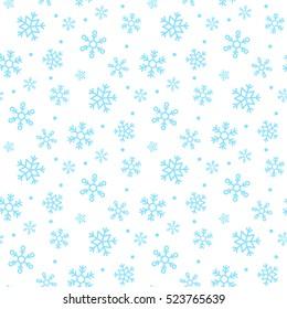 seamless snowflakes pattern vector illustration