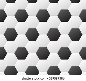 Seamless soccer black and white pattern. Vector eps8 sport background