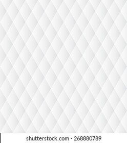 Seamless soft grey monochrome geometric background. Abstract pattern with rhombus.