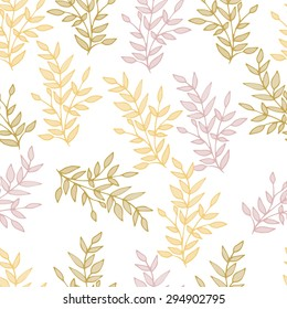 Seamless soft pattern with branches
