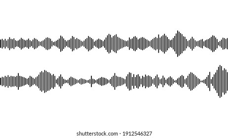seamless sound waveform pattern for music player, podcasts, video editor, voise message in social media chats, voice assistant, recorder. vector illustration element