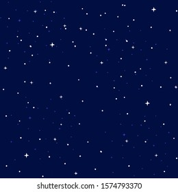 Seamless Sparkling Stars Pattern Vector Illustration EPS 10