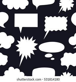 Seamless speech bubbles or Thought Bubbles for infographics. Hand drawn vector illustration.