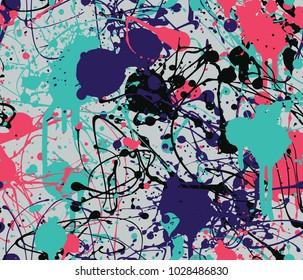 Seamless splatter paint background pattern