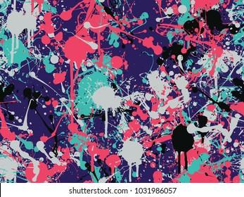 Seamless splatter paint pattern