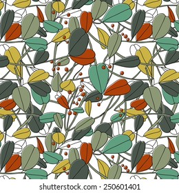 seamless spring vector pattern