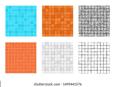 Seamless square stone pattern for floor and wall, vector