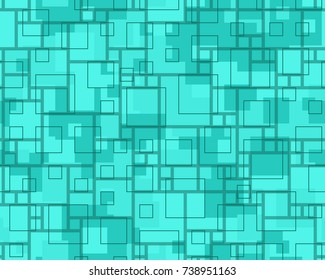 Seamless squares pattern in teal from the Flat UI  palette