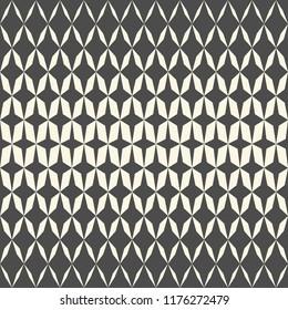 Seamless Star Background. Vector Gradient Pattern. Monochrome Regular Texture