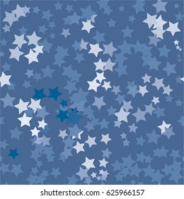 Seamless star pattern. Blue colors.