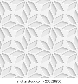 Seamless Star Pattern. Vector Background. White Regular Texture