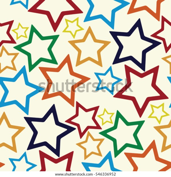 Seamless Stars Pattern Abstract Texture Vector Stock Vector ...