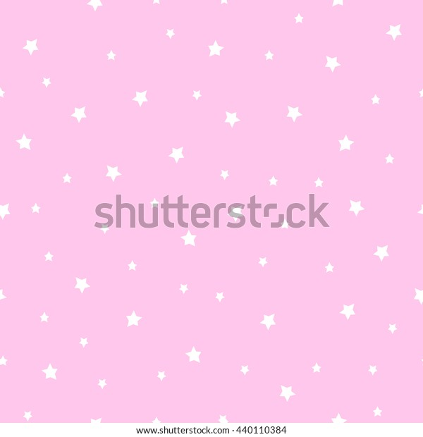 Seamless Stars Pattern On Baby Pink Stock Vector Royalty Free 440110384