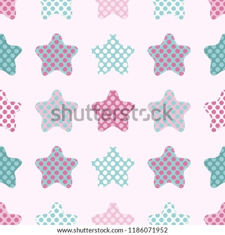 Pink And Mint Green Colors Vector Illustration For Xmas Wallpaper