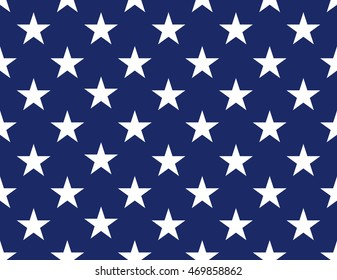 Seamless stars pattern. Vector background. American flag in style.