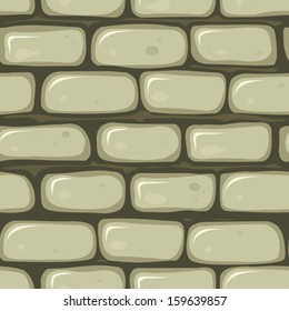 Seamless Stone Wall/ Illustration of a seamless cartoon old stone wallpaper background with bricks of rock