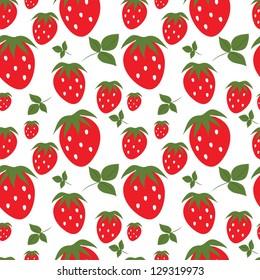 Seamless strawberry background
