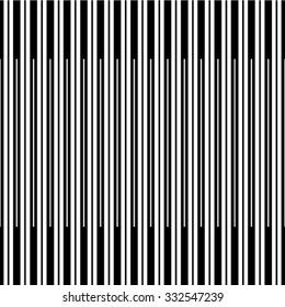 Seamless stripe pattern. Abstract monochrome background. Vector regular texture