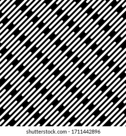 Seamless stripe pattern. Vector black and white background. Dotted line graphic design.