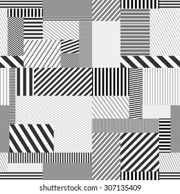 Seamless striped background. Vector creative pattern. Every pattern in this background is seamless and can be used separately.