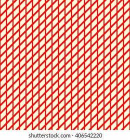 Seamless striped grid red yellowish pattern. Abstract repeated crossing lines texture background. Vector illustration