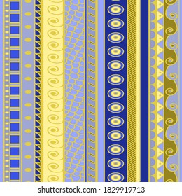seamless striped pattern in greek style with bright colors