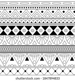 seamless striped pattern in greek style in black and wight colors