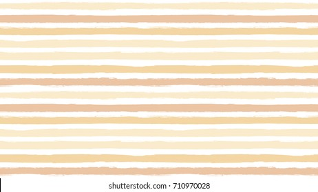 Seamless striped pattern. Horizontal line with torn paper effect. Ethnic background. Colorful, skin tone color gradient. EPS vector illustration. Texture for backdrop, app. Paint brush stroke stripes.