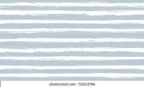 Seamless striped pattern. Horizontal line with torn paper effect. Ethnic background. Colorful white blue colors. EPS10 vector illustration of two tone texture. Paint brush stroke stripes for kids.