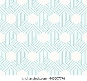 seamless striped wattled vector pattern of hexagons.