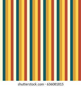Seamless stripped pattern in muted colors without shadow, vertical lines endless background