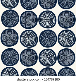 Seamless stylish hand drawn pattern. Vector illustration