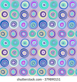 Seamless stylish hand drawn pattern. Vector illustration with concentric circles