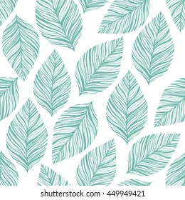 Seamless stylish leaves pattern
