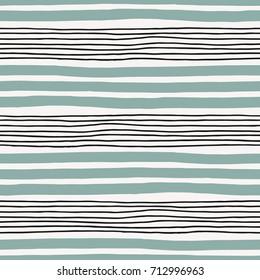 Seamless stylish minimalistic pattern with bold and thin stripes
