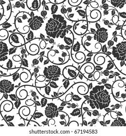 Seamless stylish pattern with roses