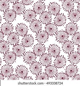 Seamless Stylized Floral Pattern