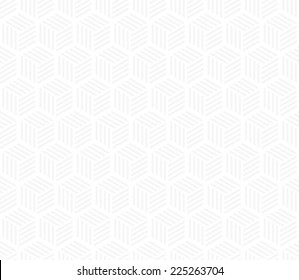 Seamless subtle gray hexagons with stripes pattern vector