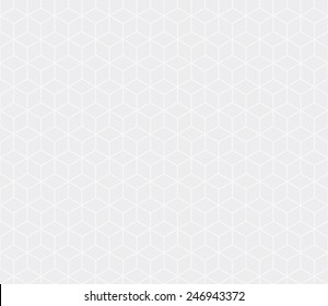 Seamless subtle gray isometric cubes pattern vector