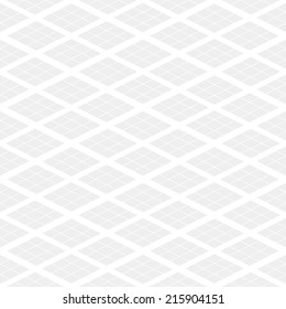 Seamless subtle gray isometric rhombus pattern vector